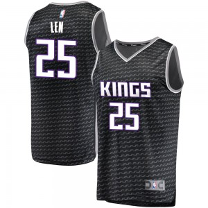 Fanatics Branded Sacramento Kings Swingman Black Alex Len Fast Break Jersey - Statement Edition - Youth