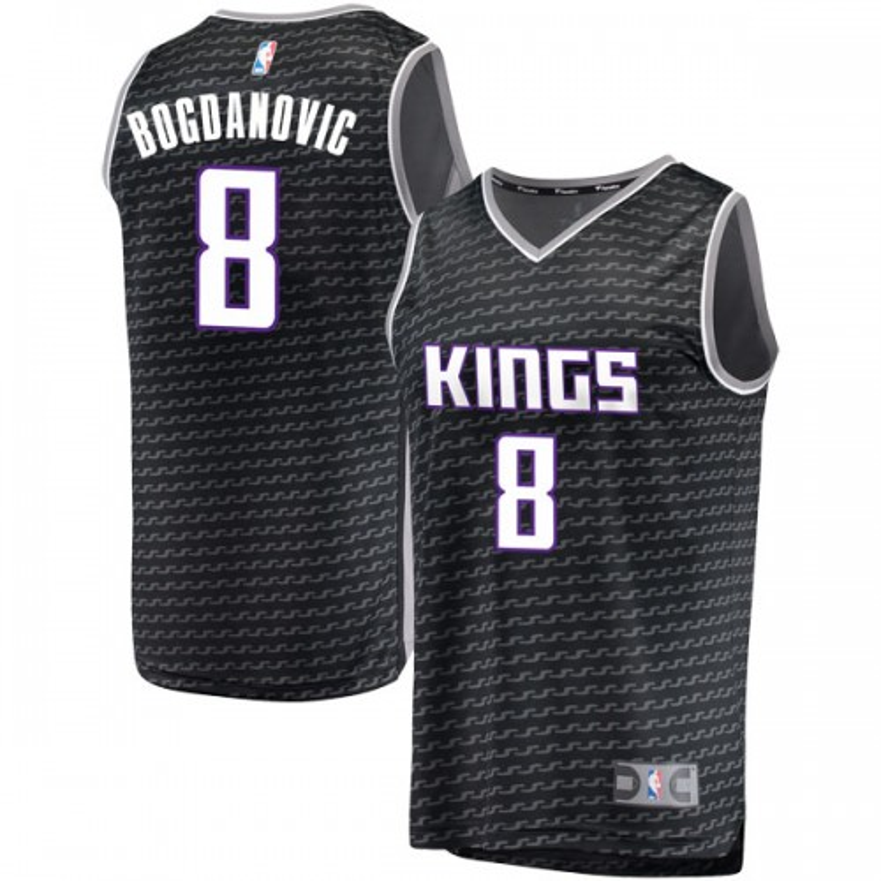 Fanatics Branded Sacramento Kings Swingman Black Bogdan Bogdanovic Fast Break Jersey - Statement Edition - Men's