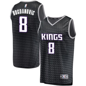 Fanatics Branded Sacramento Kings Swingman Black Bogdan Bogdanovic Fast Break Jersey - Statement Edition - Youth