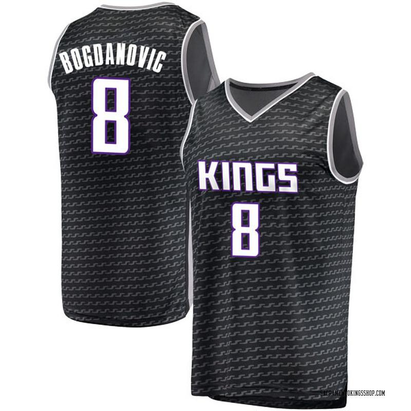 Fanatics Branded Sacramento Kings Swingman Black Bogdan Bogdanovic Fast Break Jersey - Statement Edition - Youth