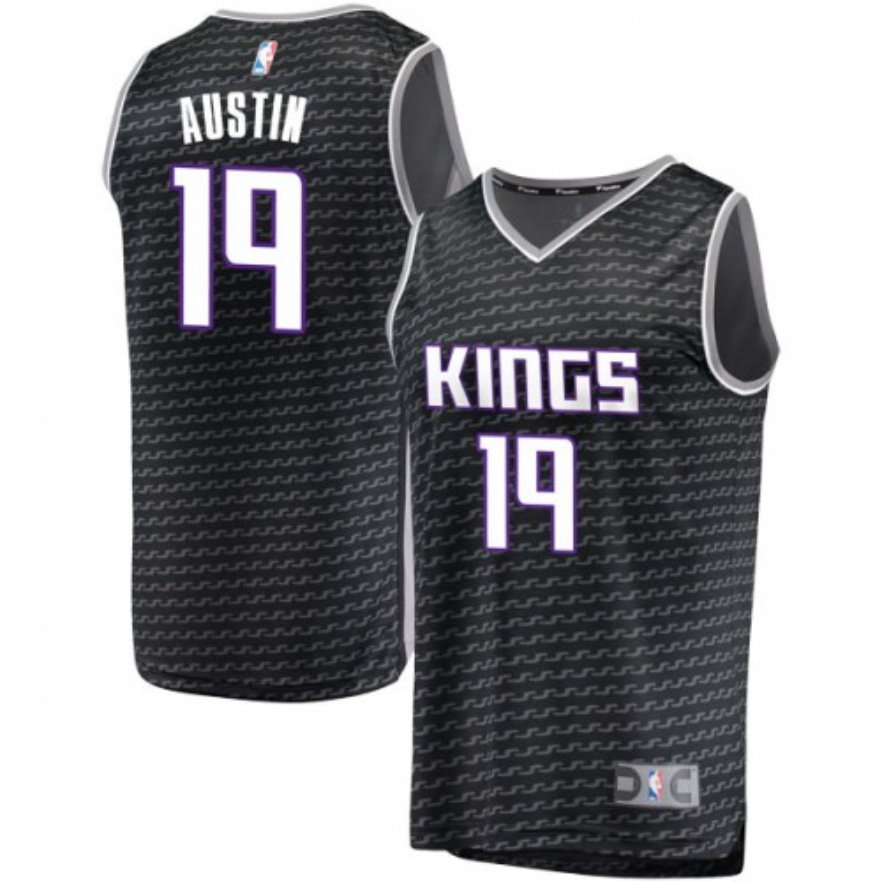Fanatics Branded Sacramento Kings Swingman Black Brandon Austin Fast Break Jersey - Statement Edition - Men's
