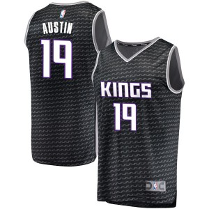 Fanatics Branded Sacramento Kings Swingman Black Brandon Austin Fast Break Jersey - Statement Edition - Youth