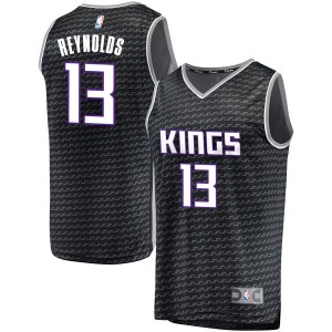 Fanatics Branded Sacramento Kings Swingman Black Cameron Reynolds Fast Break Jersey - Statement Edition - Youth