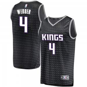 Fanatics Branded Sacramento Kings Swingman Black Chris Webber Fast Break Jersey - Statement Edition - Men's