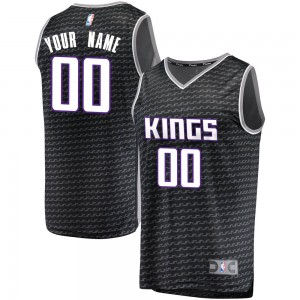 Fanatics Branded Sacramento Kings Swingman Black Custom Fast Break Jersey - Statement Edition - Youth