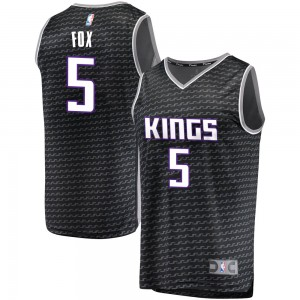 Fanatics Branded Sacramento Kings Swingman Black De'Aaron Fox Fast Break Jersey - Statement Edition - Youth