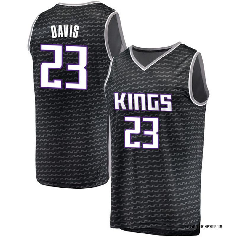 Fanatics Branded Sacramento Kings Swingman Black Deyonta Davis Fast Break Jersey - Statement Edition - Youth