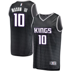 Fanatics Branded Sacramento Kings Swingman Black Frank Mason III Fast Break Jersey - Statement Edition - Men's