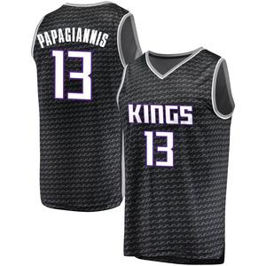 Fanatics Branded Sacramento Kings Swingman Black Georgios Papagiannis Fast Break Jersey - Statement Edition - Youth