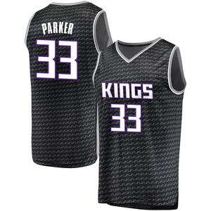 Fanatics Branded Sacramento Kings Swingman Black Jabari Parker Fast Break Jersey - Statement Edition - Men's