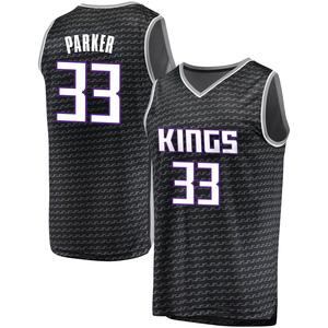 Fanatics Branded Sacramento Kings Swingman Black Jabari Parker Fast Break Jersey - Statement Edition - Youth