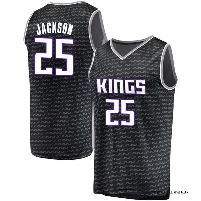 Fanatics Branded Sacramento Kings Swingman Black Justin Jackson Fast Break Jersey - Statement Edition - Men's
