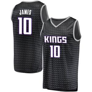 Fanatics Branded Sacramento Kings Swingman Black Justin James Fast Break Jersey - Statement Edition - Men's