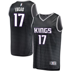 Fanatics Branded Sacramento Kings Swingman Black Kalin Lucas Fast Break Jersey - Statement Edition - Men's