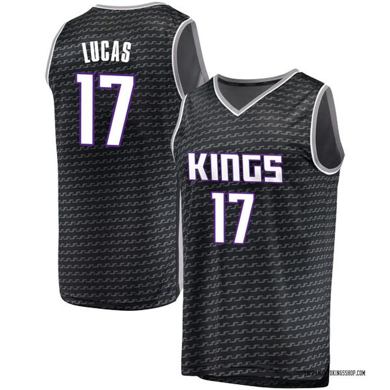 Fanatics Branded Sacramento Kings Swingman Black Kalin Lucas Fast Break Jersey - Statement Edition - Men's
