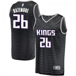 Fanatics Branded Sacramento Kings Swingman Black Kent Bazemore Fast Break Jersey - Statement Edition - Men's