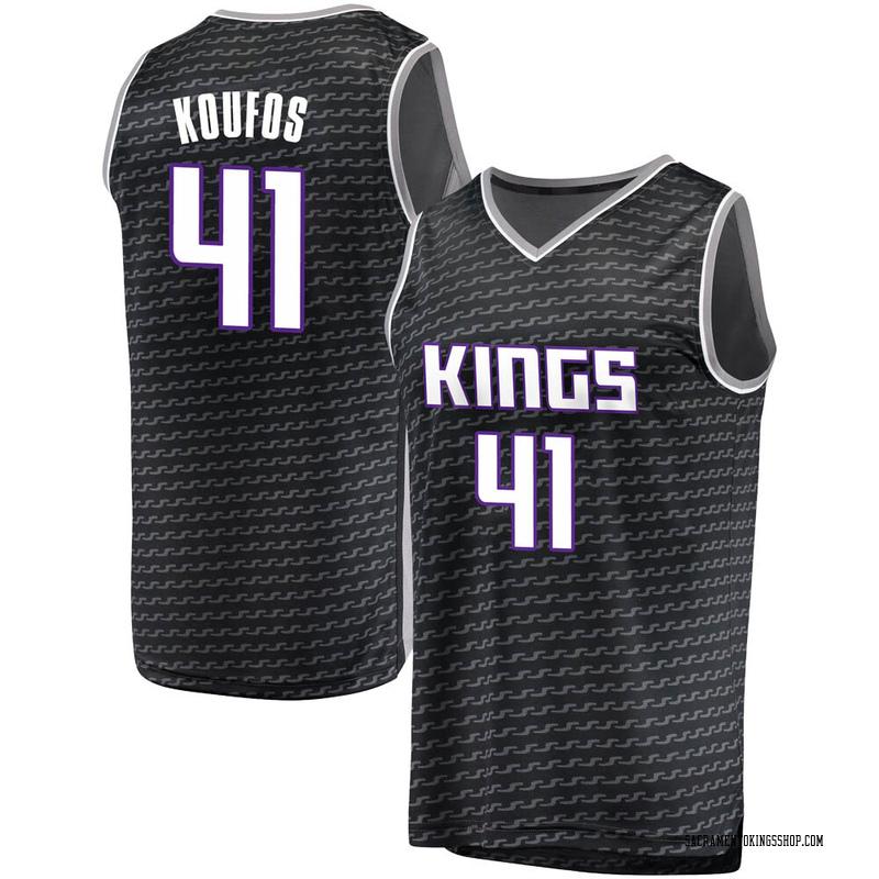Fanatics Branded Sacramento Kings Swingman Black Kosta Koufos Fast Break Jersey - Statement Edition - Men's