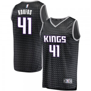 Fanatics Branded Sacramento Kings Swingman Black Kosta Koufos Fast Break Jersey - Statement Edition - Youth