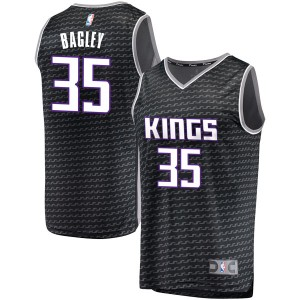 Fanatics Branded Sacramento Kings Swingman Black Marvin Bagley III Fast Break Jersey - Statement Edition - Youth