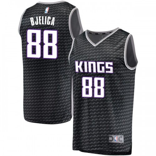 Fanatics Branded Sacramento Kings Swingman Black Nemanja Bjelica Fast Break Jersey - Statement Edition - Men's