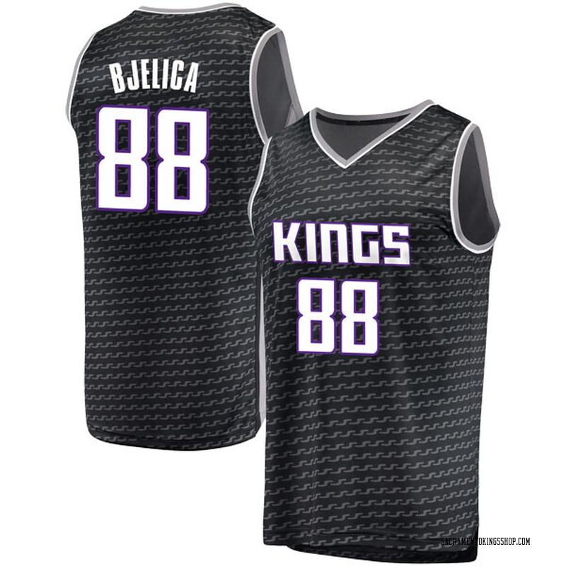 Fanatics Branded Sacramento Kings Swingman Black Nemanja Bjelica Fast Break Jersey - Statement Edition - Youth