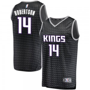 Fanatics Branded Sacramento Kings Swingman Black Oscar Robertson Fast Break Jersey - Statement Edition - Youth
