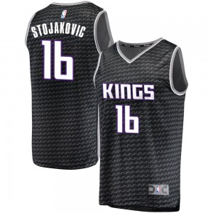 384b0fd7f ... official store fanatics branded sacramento kings swingman black peja  stojakovic fast break jersey statement edition mens