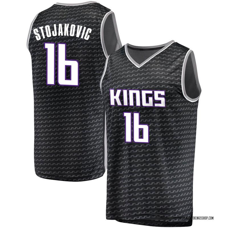 Fanatics Branded Sacramento Kings Swingman Black Peja Stojakovic Fast Break Jersey - Statement Edition - Men's