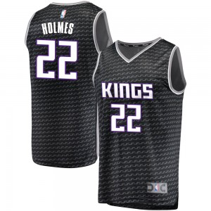 Fanatics Branded Sacramento Kings Swingman Black Richaun Holmes Fast Break Jersey - Statement Edition - Youth