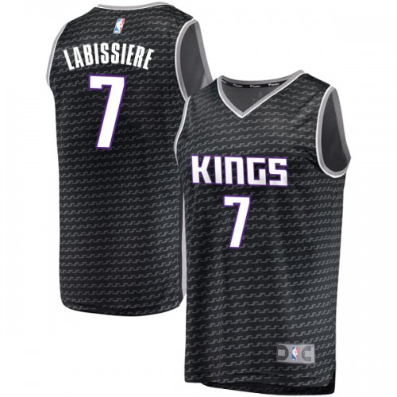 Fanatics Branded Sacramento Kings Swingman Black Skal Labissiere Fast Break Jersey - Statement Edition - Men's