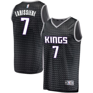 Fanatics Branded Sacramento Kings Swingman Black Skal Labissiere Fast Break Jersey - Statement Edition - Youth