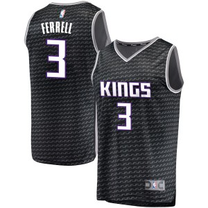 Fanatics Branded Sacramento Kings Swingman Black Yogi Ferrell Fast Break Jersey - Statement Edition - Men's