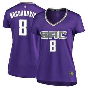 Fanatics Branded Sacramento Kings Swingman Purple Bogdan Bogdanovic Fast Break Jersey - Icon Edition - Women's