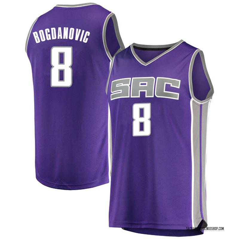 Fanatics Branded Sacramento Kings Swingman Purple Bogdan Bogdanovic Fast Break Jersey - Icon Edition - Youth