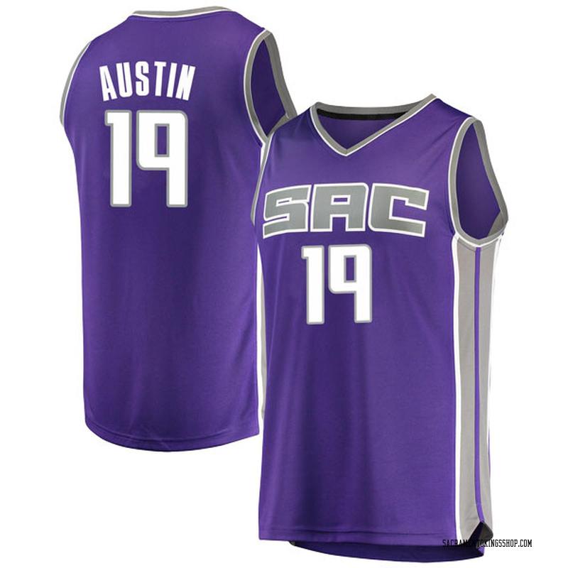 Fanatics Branded Sacramento Kings Swingman Purple Brandon Austin Fast Break Jersey - Icon Edition - Men's