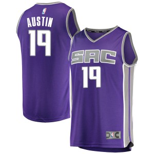Fanatics Branded Sacramento Kings Swingman Purple Brandon Austin Fast Break Jersey - Icon Edition - Youth