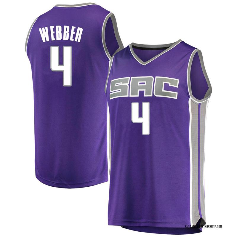 Fanatics Branded Sacramento Kings Swingman Purple Chris Webber Fast Break Jersey - Icon Edition - Men's