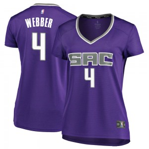 Fanatics Branded Sacramento Kings Swingman Purple Chris Webber Fast Break Jersey - Icon Edition - Women's