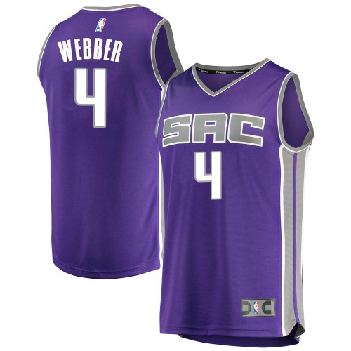 Fanatics Branded Sacramento Kings Swingman Purple Chris Webber Fast Break Jersey - Icon Edition - Youth