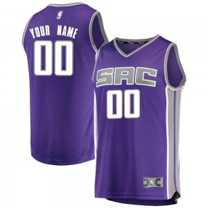 Fanatics Branded Sacramento Kings Swingman Purple Custom Fast Break Jersey - Icon Edition - Men's