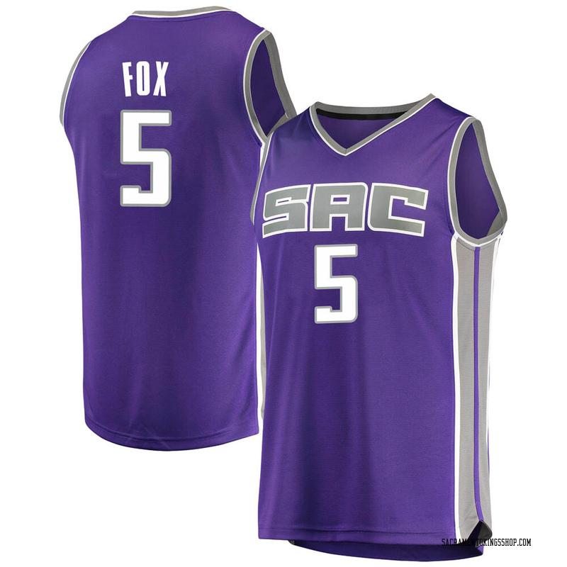Fanatics Branded Sacramento Kings Swingman Purple Deaaron Fox Fast Break Jersey - Icon Edition - Men's