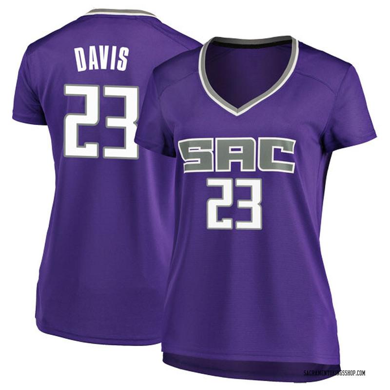Fanatics Branded Sacramento Kings Swingman Purple Deyonta Davis Fast Break Jersey - Icon Edition - Women's