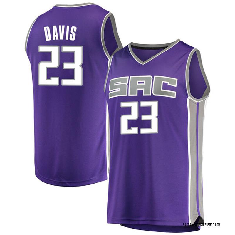 Fanatics Branded Sacramento Kings Swingman Purple Deyonta Davis Fast Break Jersey - Icon Edition - Youth