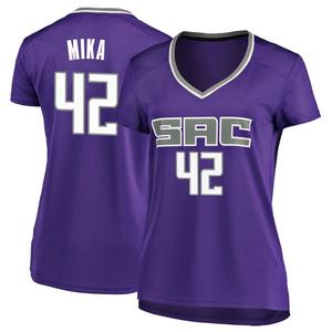 Fanatics Branded Sacramento Kings Swingman Purple Eric Mika Fast Break Jersey - Icon Edition - Women's