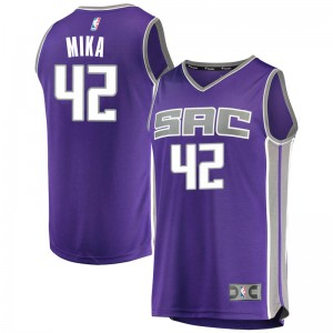 Fanatics Branded Sacramento Kings Swingman Purple Eric Mika Fast Break Jersey - Icon Edition - Youth