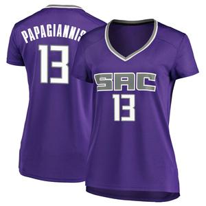 Fanatics Branded Sacramento Kings Swingman Purple Georgios Papagiannis Fast Break Jersey - Icon Edition - Women's