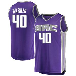Fanatics Branded Sacramento Kings Swingman Purple Harrison Barnes Fast Break Jersey - Icon Edition - Youth