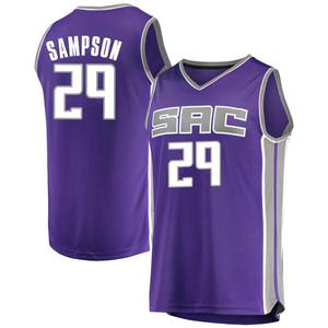 Fanatics Branded Sacramento Kings Swingman Purple Jakarr Sampson Fast Break Jersey - Icon Edition - Youth