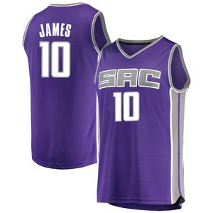 Fanatics Branded Sacramento Kings Swingman Purple Justin James Fast Break Jersey - Icon Edition - Youth