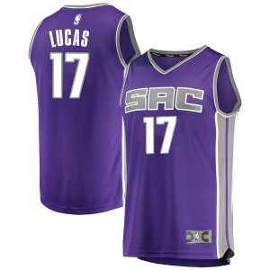 Fanatics Branded Sacramento Kings Swingman Purple Kalin Lucas Fast Break Jersey - Icon Edition - Men's